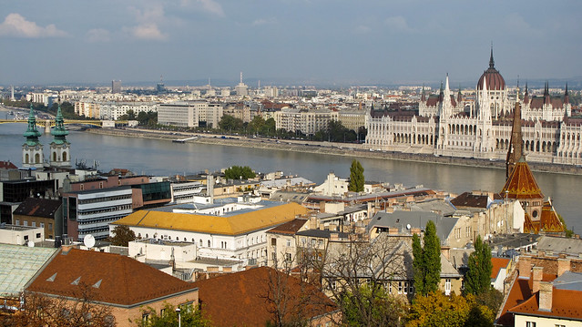 View From Fisherman's Bastion in Budapest