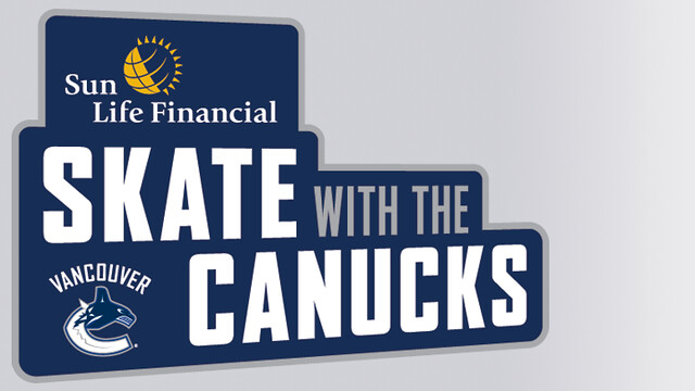 Skate with Canucks Logo