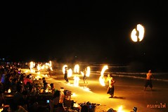 Fire player in Thailand