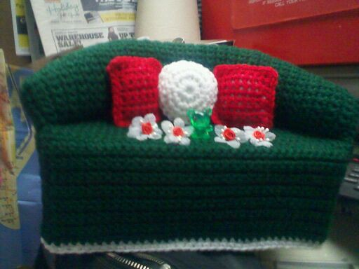 Christmas Crochet Tissue Box Cover - PDF File