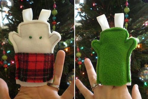 Christmas critter finger puppet