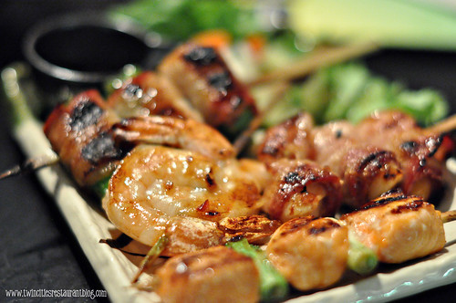 Shrimp Skewer and Bacon Wrapped Shrimp Skewer at Masu Sushi and Robata ~ Minneapolis, MN