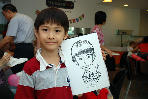 caricature live sketching for birthday party 2nd Oct 2011 - 2