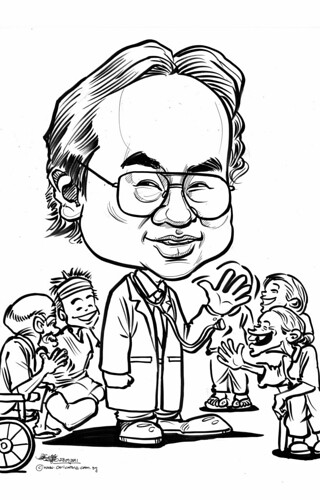 caricature for Khoo Teck Puat Hospital - 1
