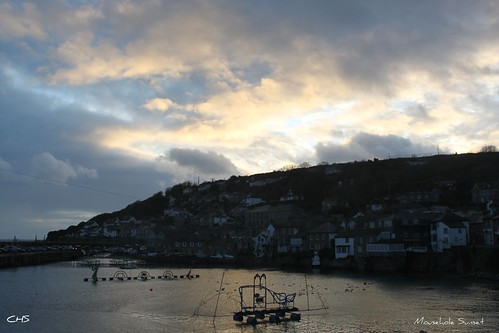 Mousehole Sunset, Christmas Eve 2011 by Stocker Images