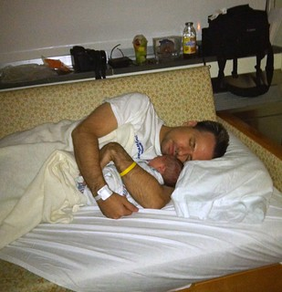 Sleeping with Daddy in the hospital
