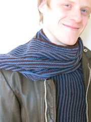 Stripe Scarf for my Husband