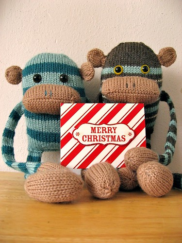 merry christmas from a couple of monkeys