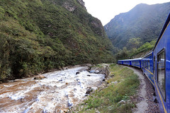 Urabamba River from train