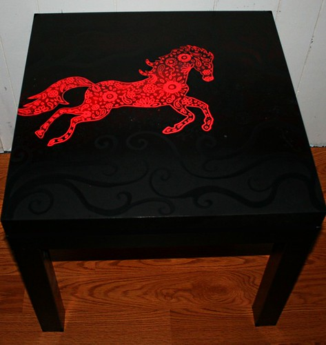 Running Horse Table by Rick Cheadle Art and Designs