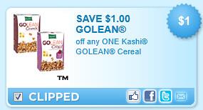 Kashi Golean Cereal Coupon