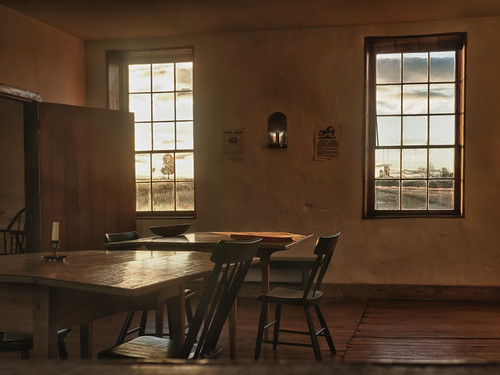 Inside the Stone House - Manassas Battlefield, by Reed A. George