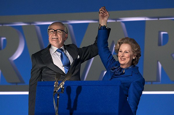 Jim Broadbent and Meryl Streep are about the only things THE IRON LADY has going for it.