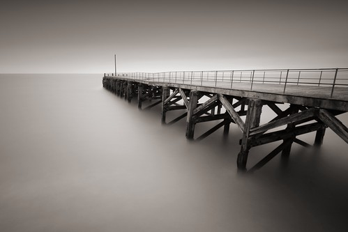 Time and tide wait for no man (Trefor Jetty)