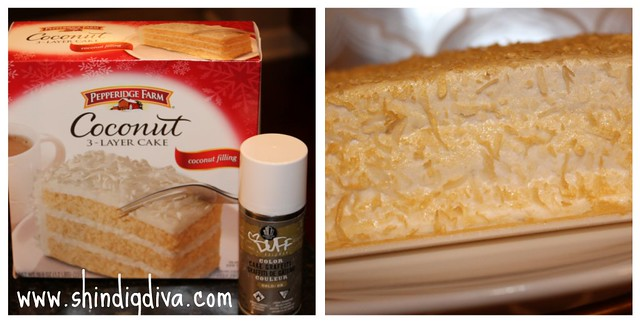 Gold Spray - Coconut Cake