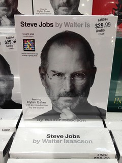 Microsoft Tag on Steve Jobs by Walter Isaacson - audio book