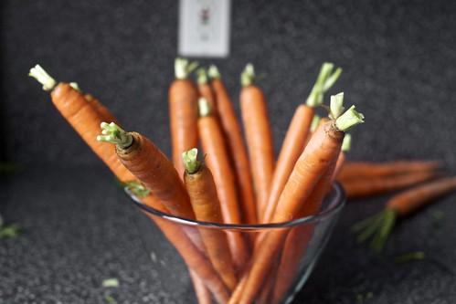 carrots, trying to be artsy