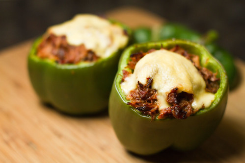 Pork Stuffed Peppers w/Gouda