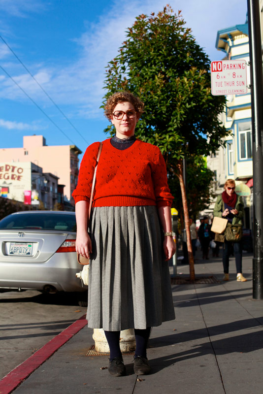 redsweater san francisco street fashion style