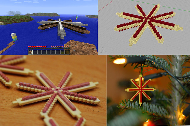 Designing Christmas Decoration in Minecraft