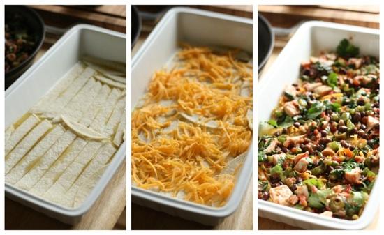 Enchilada Lasagna steps 1