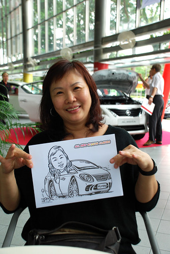 Caricature live sketching for Tan Chong Nissan Almera Soft Launch - Day 1 - 4