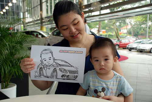 Caricature live sketching for Tan Chong Nissan Almera Soft Launch - Day 1 - 13
