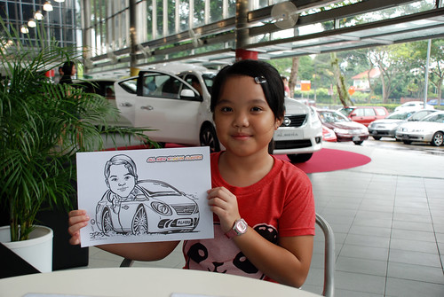 Caricature live sketching for Tan Chong Nissan Almera Soft Launch - Day 1 - 14
