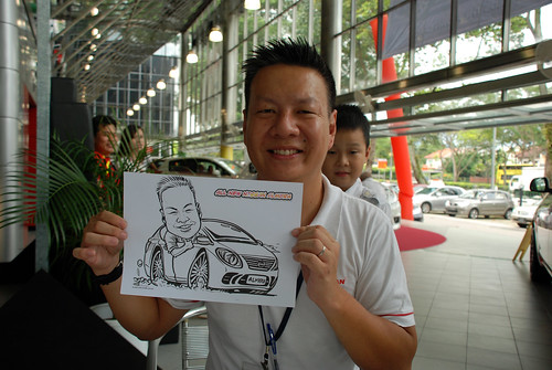 Caricature live sketching for Tan Chong Nissan Almera Soft Launch - Day 1 - 26