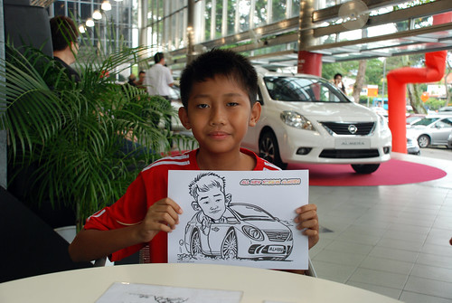 Caricature live sketching for Tan Chong Nissan Almera Soft Launch - Day 1 - 30