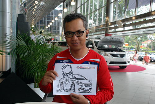 Caricature live sketching for Tan Chong Nissan Almera Soft Launch - Day 1 - 43