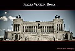 Saluti da piazza Venezia, Roma, Lazio, Italia.