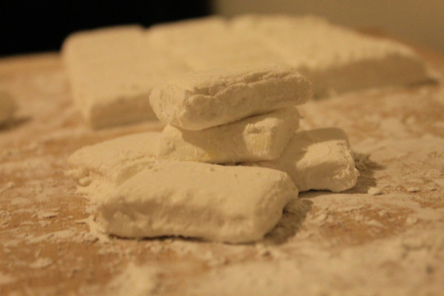 Making homemade marshmallows