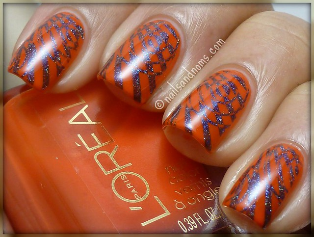 L'Oreal L'Orange & Glitter Gal Marine Blue w/Red Angel RA-106 Stamp