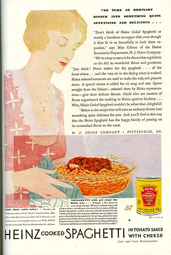 Heinz cooked Spahhetti ad 1930
