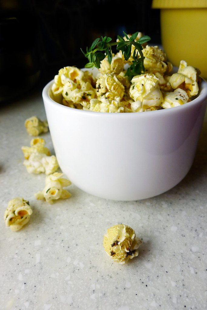brown butter and lemon popcorn