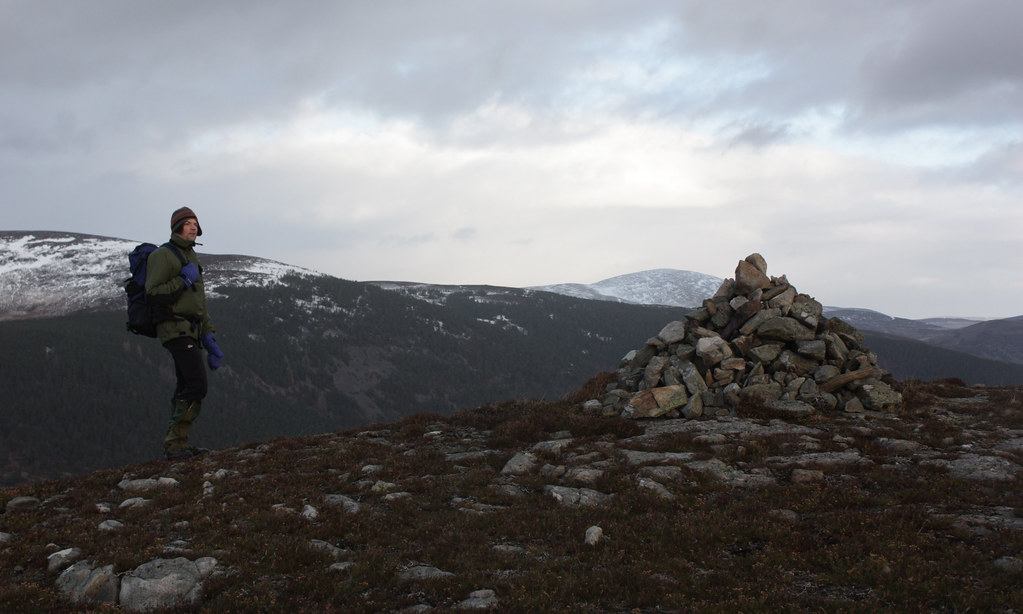 Dave on the summit of Creag nam Ban