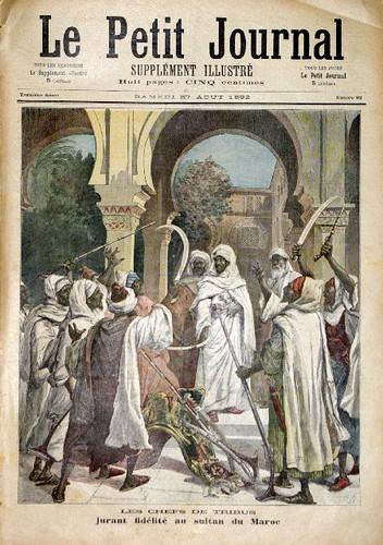 les chefs des tribus jurant fid�lit� au sultan