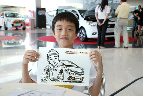Caricature live sketching for Tan Chong Nissan Motor Almera Soft Launch - Day 3 - 8