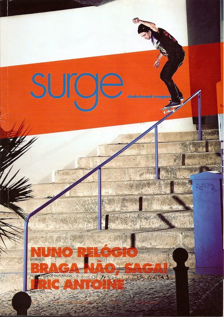 Surge skateboard magazine.