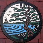Tsuruga Fukui manhole cover (福井県敦賀市のマンホール)