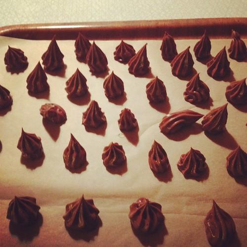Chokladtryffel som Klara spritsade
