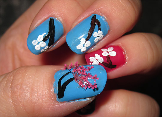 6708141797 02b4475879 z Nailing it! Simple Spring Cherry/Plum Blossoms Nail Art for Chinese New Year