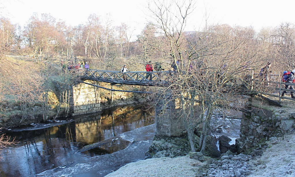 Rickety bridge over the Esk