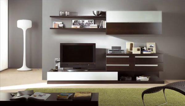 Sala de entretenimiento en melamina moderno imagui for Muebles de sala de entretenimiento