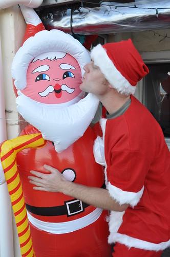 Santa loving Santa
