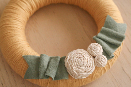 yarn wreath.