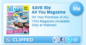 All You Magazine (available Only At Walmart) Coupon