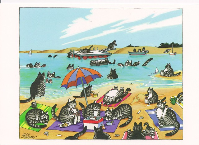 Kliban Cats at the Beach