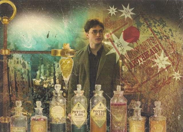 Harry Potter in Slughorn's Potions Class